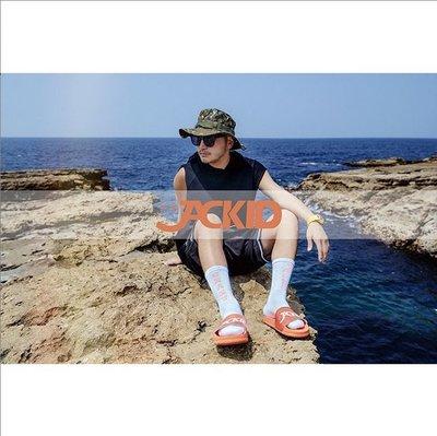 黑人王JACKID ® Slide Sandals  JACKID海灘拖鞋 橘色