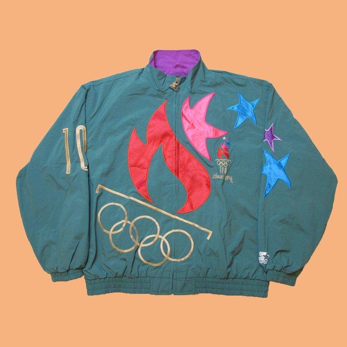 Vintage Starter 出品 96年 亞特蘭大奧運會 紀念運動夾克 古著 / 90s / 嘻哈 / ATL