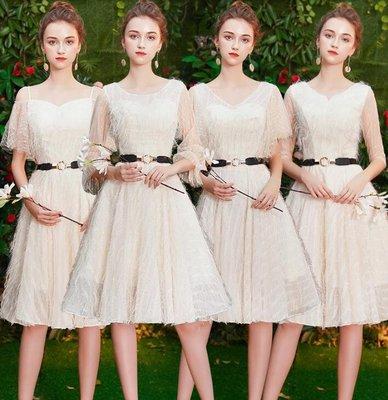 小禮服 婚禮洋裝 伴娘服 修身姐妹團伴娘連身裙 生日聚會小禮服 —莎芭