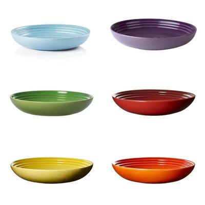 Le Creuset 瓷器義麵碗22CM 火焰橘/櫻桃紅/閃亮黃/棕櫚綠/星河紫/海岸藍 特價780元