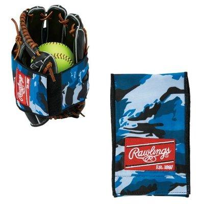貳拾肆棒球-日本帶回 Rawlings手套保型帶/迷彩藍