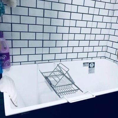 不銹鋼浴缸架子衛生間浴室置物架伸縮泡澡手機支架浴缸置物架ATF全館免運居家館