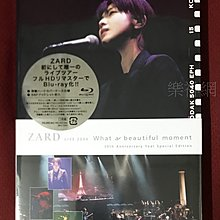 Zard 2004演唱會What a beautiful moment(日版藍光Blu-ray 特典收錄全新內容) BD