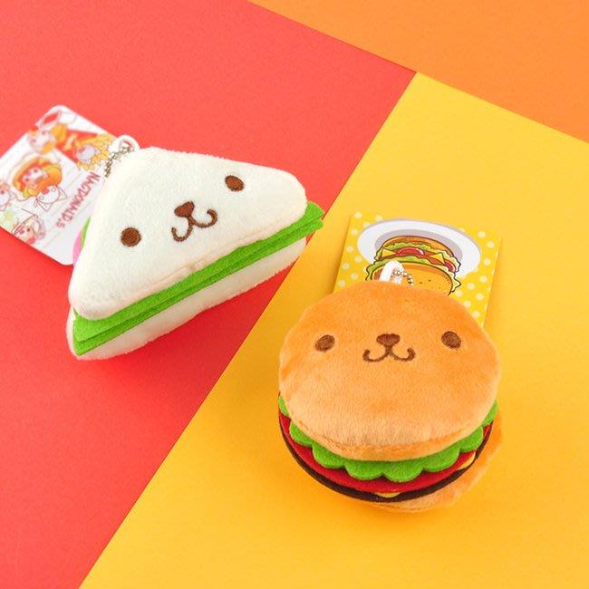 【FAT CAT HOUSE胖貓屋】漢堡三明治薯條可愛毛絨小挂件鑰匙扣 毛絨鑰匙圈 吊飾 品質保證 現+預