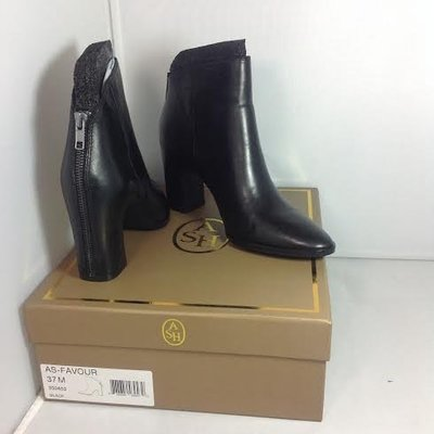 ASH -全新正品女款FAVOUR BOOTS 真皮低筒靴 全黑 350453