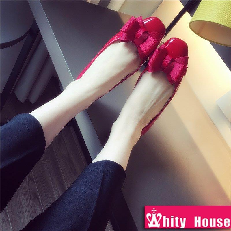 =WHITY=韓國GRAMMI品牌 韓國製  大牌設計師推薦新款名媛低跟軟底鞋真皮耐看S8DK428