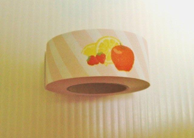 整捲 自黏便條 紙膠帶 可貼便簽付箋紙  sticky memo Roll 水果