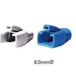 $25/10個 台製 CAT.6 CAT6A FTP超六類屏蔽水晶頭護套 線徑= 8mm 彈片式 藍/灰色  網路線