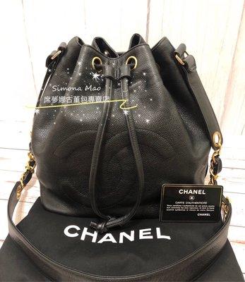 ⭐️售出⭐️ Chanel香奈兒老香荔枝皮大Logo水桶包