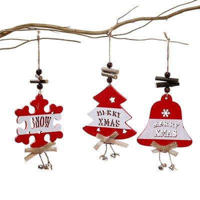 聖誕裝飾品木質掛飾創意小鹿雪花聖誕樹裝飾小掛件場景布置北歐風