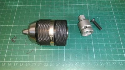 四分套筒轉四分夾頭的轉接頭 (含逆牙螺絲)+黑色有鎖定功能的四分夾頭鑽大可夾到13mm /扳手機變電鑽起子機 的配件轉