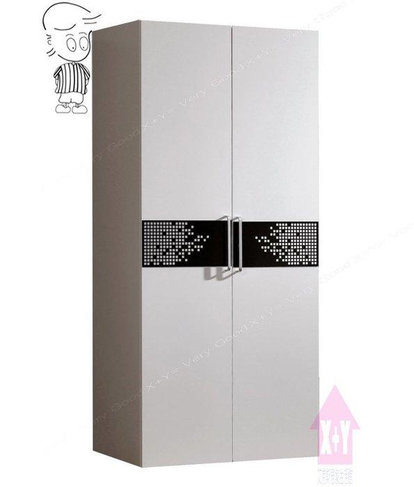 【X+Y時尚精品傢俱】現代衣櫃系列-波爾卡 2.7尺白色衣櫥(鐵籃).衣櫃.摩登家具