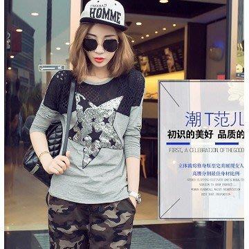 ღWild at Heartღ(預購) T43406# 韓版時尚個性長袖T卹休閒打底衫