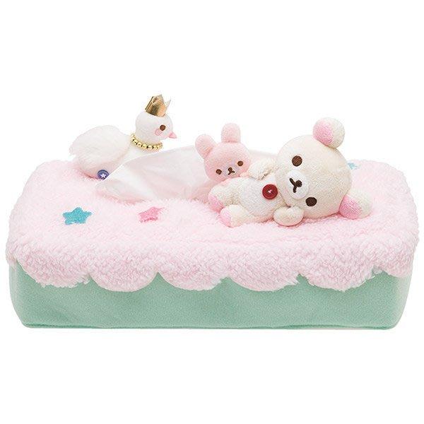 ^燕子部屋 ^ 正版San-X 【 懶熊/ 牛奶熊】毛絨面紙套-天鵝