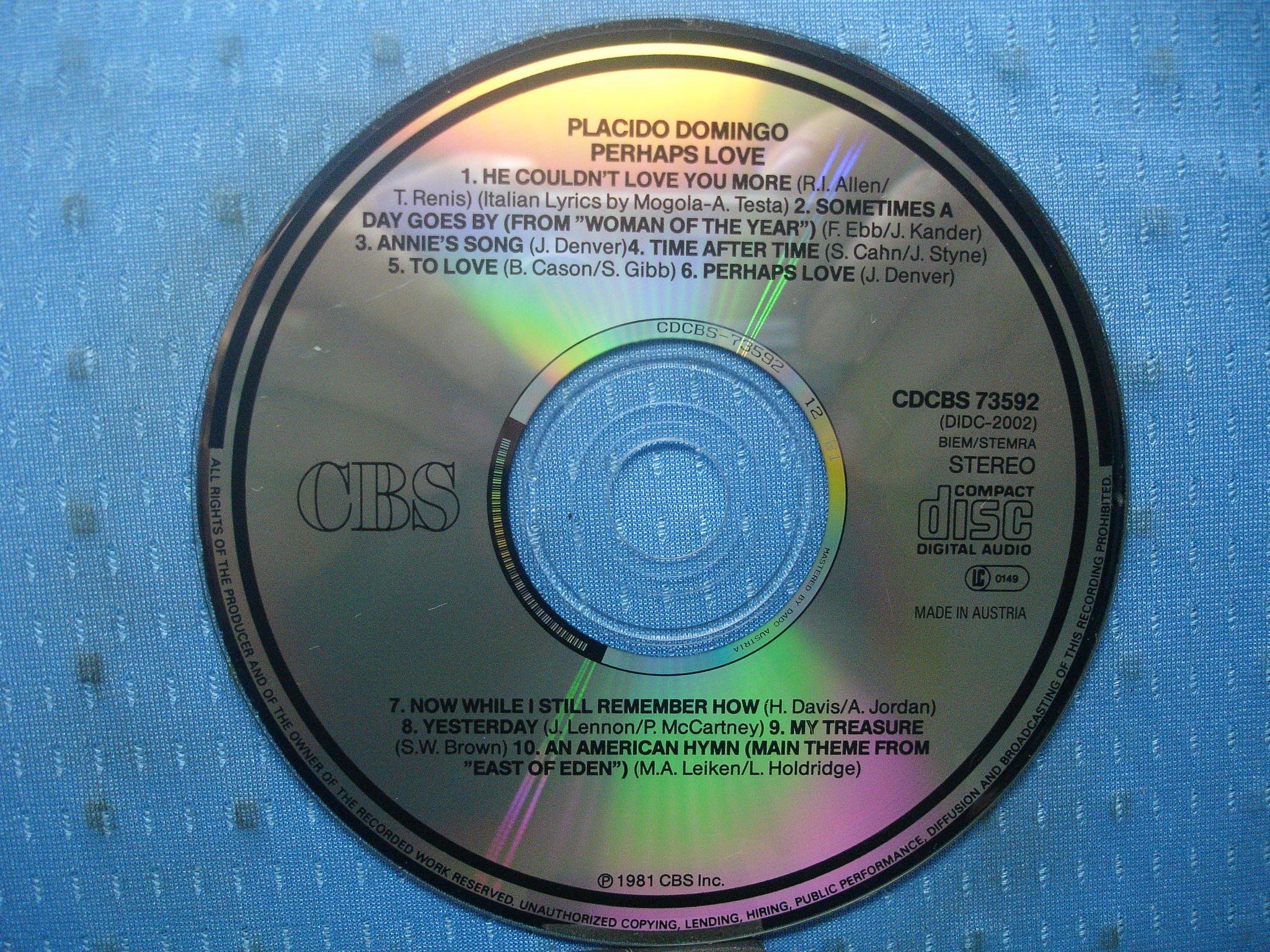 [無殼光碟]GO Plácido Domingo with John Denver  Perhaps Love