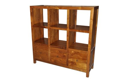塔森柚木家具-全柚木雙面收納櫃 CA-8