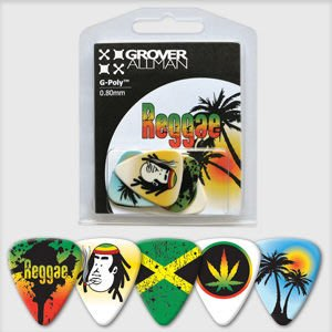 ☆ 唐尼樂器︵☆澳洲製 Grover Allman 主題系列『Reggae』烏克麗麗/木吉他/電吉他 Pick 彈片