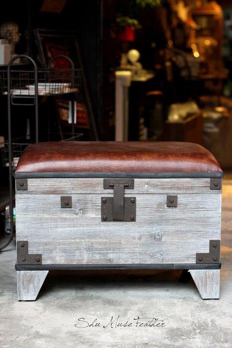 【曙muse】復古鐵件箱收納椅 裝飾 擺飾loft 工業風 咖啡廳 民宿 餐廳 住家 設計