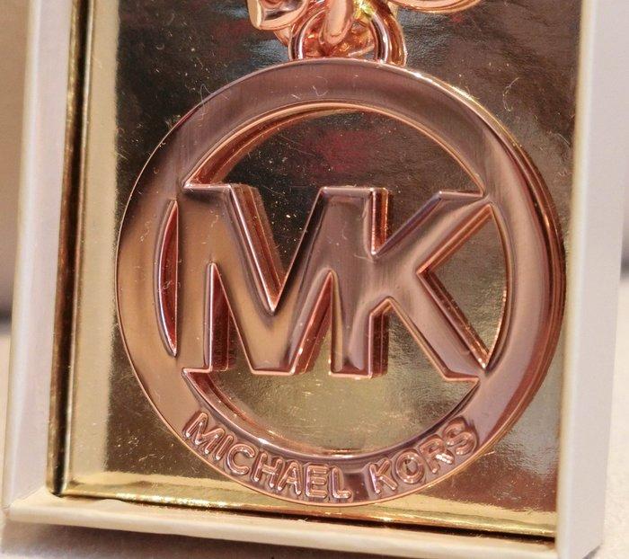 大降價!全新美國 Michael Kors MK 玫瑰金色奢華鑰匙圈,含原外盒標籤,低價起標無底價!本商品免運費!