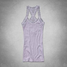 Maple麋鹿小舖 Abercrombie&Fitch * AF 淡紫色細肩蕾絲背心Blythe Tank*( 現貨 )