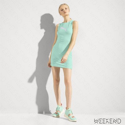 【WEEKEND】 FENTY X PUMA Rihanna Cover-up 合身 無袖 短裙 水藍 18春夏新款
