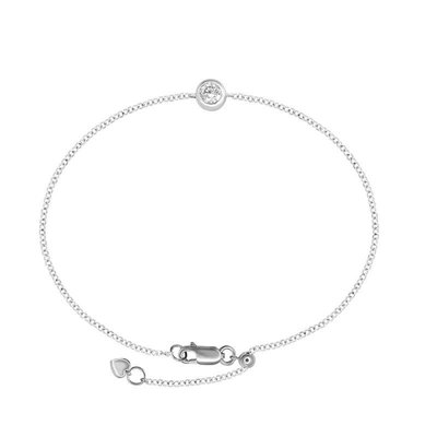 10份 0.10 Carat 18K金Gold   鑽石手鏈Diamond Bracelet