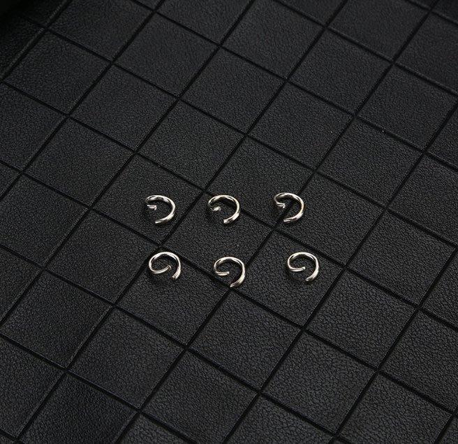 (現貨) G-080 不銹鋼 開口圈 飾品圓形連接圈高品質 鑰匙扣飾品定制DIY手工配件小圓圈閉口圈線割圈