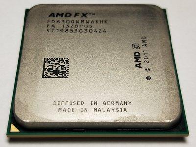 二手良品 AMD 超微 FX-6300 3.5GHz 六核心 AM3+ CPU 處理器 95W 推土機 快取8MB