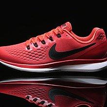 D-BOX NIKE AIR ZOOM PEGASUS 34 橘紅 黑勾 透氣網面 輕量慢跑鞋 訓練鞋