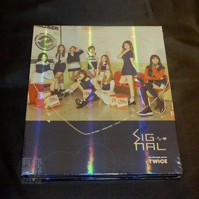 全新TWICE【SIGNAL】Mini Album Vol.4 (CD) (韓版) 藍色(C版) 周子瑜