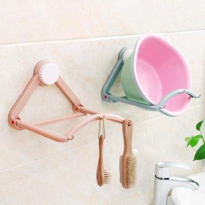 強力吸盤臉盆架掛架衛生間臉盆收納架浴室壁掛廚房墻壁掛鉤置物架wy