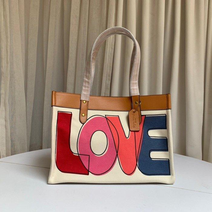 【小黛西歐美代購】COACH 89231 2020新款 LOVE塗鴉托特包 購物袋 單肩包 美國代購