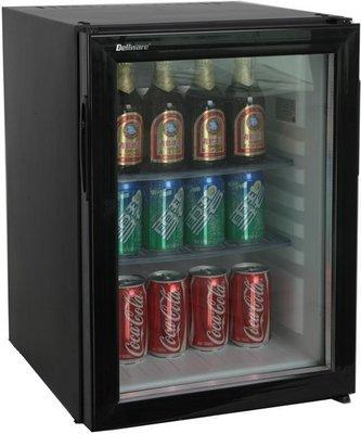 (全省服務)Dellware 玻璃門吸收式 40公升 無聲客房小冰箱 DW-40TE ~飯店,套房,保固3年/冷藏冰箱