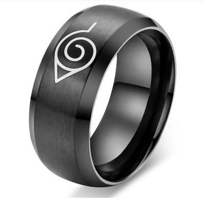 戒指動漫周边同人現貨火影忍者戒指 寫輪眼鳴人戒指不銹鋼戒指動漫周邊飾品戒指