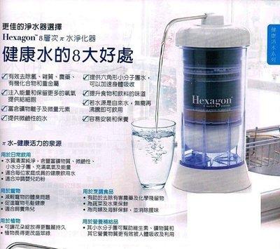 Hexagon™ 8 層次兀水淨化器 科士威 鹼性活氫水濾芯 濾水器 淨水器 水機配件請詢問