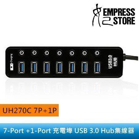 【妃小舖】Uptech UH270C 8P/充電埠/擴充 USB3.0/HUB 5V/2A 集線器/充電 手機/平板