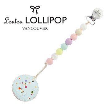 ♡NaNa Baby♡加拿大 Loulou lollipop 馬卡龍奶嘴鍊固齒器-棉花糖