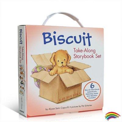 英文原版繪本 Biscuit Take-Along 6 Book Box Set 小餅干狗6冊  mind your manners 故事圖畫書禮盒裝 含貼紙與