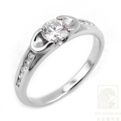 【JHT 金宏總珠寶/GIA鑽石專賣】0.410ct天然鑽石戒指/材質:18K(2553)