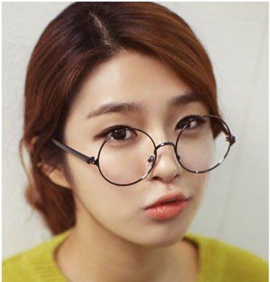 【韓風時尚】復古圓型金屬框 平光眼鏡  另有加購時尚方框眼鏡優惠