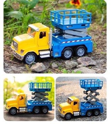 大金玩具北美Driven兒童工程車模型 運輸卡車升降機仿真聲光小汽車玩具