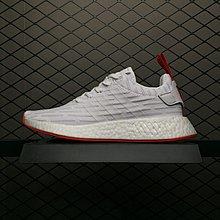 Adidas Originals NMD_R2 Primeknit 魚鱗爆 白紅 男女鞋 BA7253