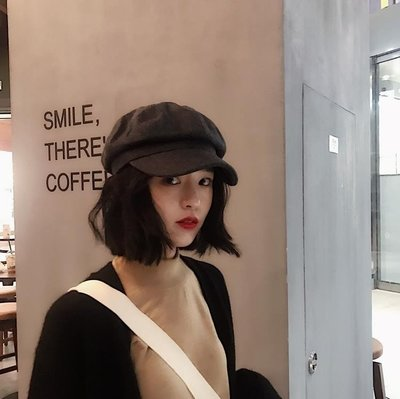 韓國毛呢純色復古鴨舌八角帽子男女秋冬文藝百搭保暖畫家帽報童帽