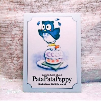 Sanrio 1992 絕版非常罕有 Pata Pata Peppy 膠板