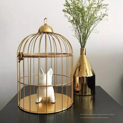 金色鐵藝鳥籠 裝飾 鳥籠 櫥窗設計 道具 擺設 壁掛 歐式擺件 花藝設計 花器 婚慶布置 ※COLOUR杯盤囊集選物※