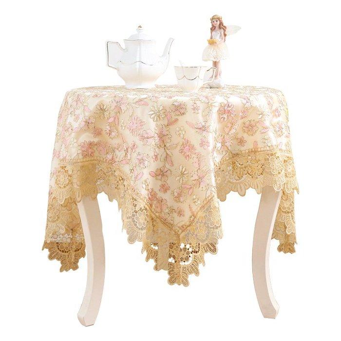 創意 居家 裝飾圓桌布歐式餐桌布茶幾布臺布小圓桌布紗方桌布布藝茶幾墊蕾絲桌布
