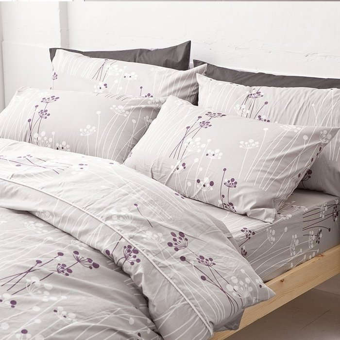 (預購)床包被套組 / 雙人【蒲公英之曲】含兩件枕套,100%精梳棉,戀家小舖台灣精製R08-AAS212