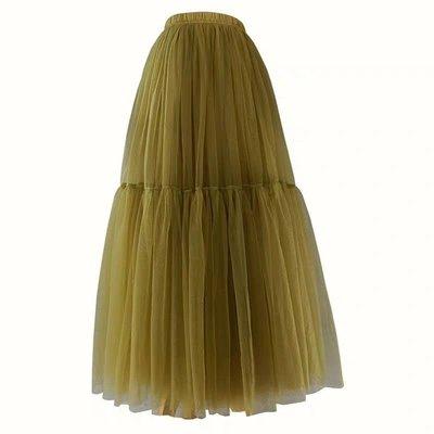 韓風春夏拼接大擺紗裙訂做 Tulle skirt 外拍 寫真 婚紗 cosplay Luxe boutique 長100 下標處