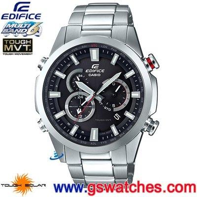 【金響鐘錶】全新CASIO EQW-T640YD-1ADR,公司貨,EQW-T640YD-1A,EDIFICE,電波時計