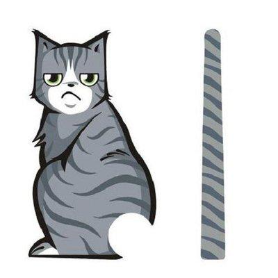 貓咪 後窗雨刷車貼 反光貓尾巴 憂鬱款...
